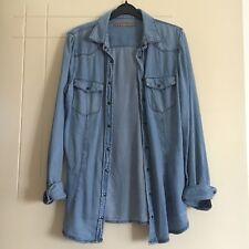 Zara Lightweight Denim Shirt Size M