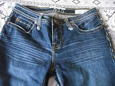 Frank Mechaly Designer 575 May 75 Slightly Distressed Blue Jeans Size 26 L 32