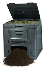 Large Square Resin E Composter 120 Gallon Compost Bin Garden Backyard Recycling