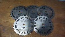 "Skil Saw Five Pack 7-1/4""  Circular Saw Blade 40 Teeth Super Sharp 13247-91 USA"