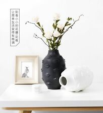 Ceramics Vase Nordic Black And White Lips Hydroponic Dried Flower For Home Decor