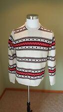 Chaps Men's Crewneck Aztec/Tribal Sweater Size Medium