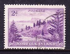 NORFOLK IS 1947 SG4a 2d reddish-violet white paper f/u little off-centre cat£200