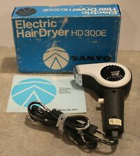 Vintage Sanyo Electric Hair Dryer HD300E Works With Box