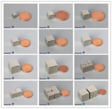 2/10/20pcs Multiple Size Cube Rare Earth Neodymium Block Magnets