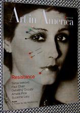 Art in America Magazine, RESISTANCE ISSUE, IDA APPLEBROOG, Occupy, Chan, Pica