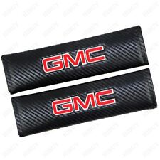 Carbon Fiber Car Seat Belt Safety Cover Pad Shoulder Cushion For GMC Accessories