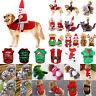 Pet Dog Cat Christmas Santa Clothes Costume Puppy Fleece Jumper Sweater Apparel