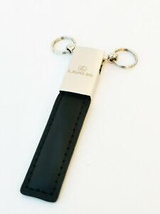 Designer Style Leather Looking Key Holder for Lexus Rectangular Black
