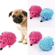 FP- AU_ FA- Qu_ Pet Dog Puppy Squeaker Chew Plush Toy Fluffy Hedgehog Molar Bite