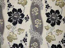 Waverly LIBERTY FLORAL EBONY Black Floral Home Decor Drapery Sewing Fabric BTY