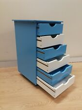 Blue cabinet Kids Storage box Toy box 6 drawers