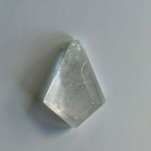 """1 1/2"""" x 1""""  Quartz Rock Crystal Flat Back Kite Diamond Shape"""