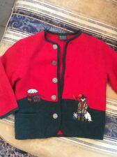 Trachten Jacke Pullover Kardigan Gr.128 St.Peter Tirol Austria Wolle 100%
