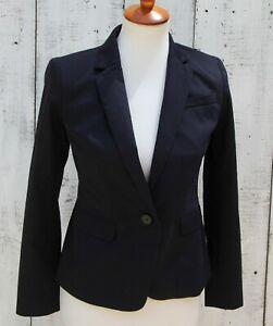 Ann Taylor Womens Petite Navy Blue Blazer Size 0P NEW