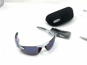 Tifosi Seek FC Sunglasses  Silver Blue Smoke Scratched Lenses Selling The Frame