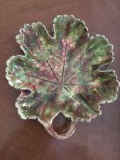 Vintage Ceramic Green Leaf Dish
