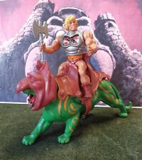 Masters of the universe motu: He-man battle armour made in France e Battle cat