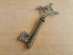 Old Door Key, Vintage Forged Key, Ottoman Rustic Key, Skeleton Key, 6x24cm