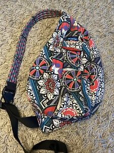 KAVU Rope Bag Sling Crossbody Backpack Travel Cotton Purse -  Spring Hodgepodge