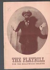 1942 Playbill- EDDIE CANTOR in Banjo Eyes (Blackface)