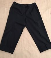 Ann Klein NAVY BLUE CAPRI Dress Pants Slacks SHORTS Women's Career NWOT 8P