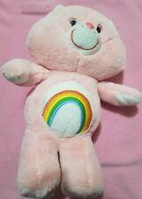 "Care Bears 2019 - 12"" Light Pink Rainbow Cheer Bear Plush! Super Soft!"
