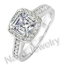 2.81 Ct. Asscher Cut Diamond Engagement Bridal Ring EGL
