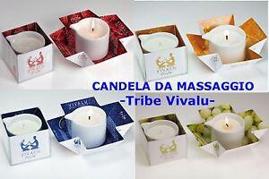 CANDELA DA MASSAGGIO Lumen -Linea VIVALU Tribe- massaggio al Karitè l'ORIGINALE