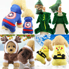 Warm Dog Hoodies Jumpsuits Coat Jacket Clothes Costume for Pets Dogs Cat Puppy
