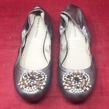 Adrienne Vittadini Velma Ballet Flat Shoes Jeweled Women Sz 9 Champagne