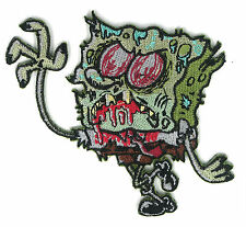 Zombie Squarepants Patch Biohazard Punk Rainbow Goth Hipster Spongebob Raver EMO