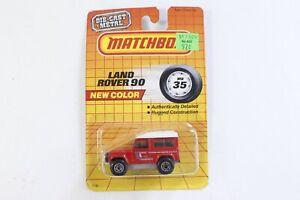 Matchbox Red Land Rover Ninety 90 Macau On Card
