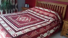"""KING SIZE QUILT! A Prairie Gathering! 99""""×99""""! Ready to used"""