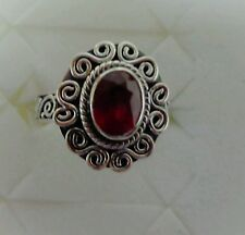 NIASSA RUBY STERLING SILVER RING SIZE 7