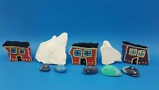 Hand Painted Whale Iceberg Cottage House Rock Art Newfoundland Row Houses