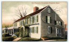 Early 1900s Col. Prescott's Homestead, Pepperell, Ma Postcard