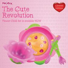 The Cute Revolution Set - Nuby Flower Child Feeding Set - Limited