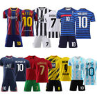 20/21 Kids Football Kits Soccer Training Uniforms +Socks Suits