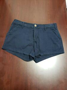 "Abercrombie & Fitch Navy Blue Shorts 4 / 27 Hot pants short shorts 2"" inseam"