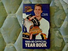 1989-90  VANCOUVER CANUCKS MEDIA GUIDE YEARBOOK Program TREVOR LINDEN 1990 AD