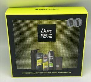 Dove Men Care Men's Shower Gel Gym Essentials Gift Set with Towel & Water Bottle