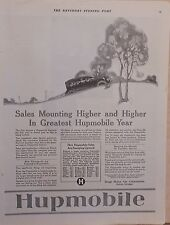 1922 magazine ad for Hupmobile - Sales mount higher for Hup in Greatest Year