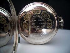 L.U.C Chopard - Taschenuhr Gehäuse 800 Silber - 50 mm - 15 Rubis Spiral Breguet!