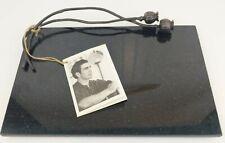 "NEW Michael Aram Black Granite Cheese Board Plate Poppy Collection 12"" x 7.75"""