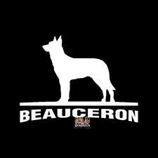 BEAUCERON Vinyl Sticker AKC Register Dog Groomer Rescue I LOVE