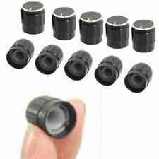 Useful Tool 10 Pcs Black Metal 6mm Knurled Shaft Potentiometer Control Knobs