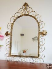 French Style Iron Mirror Wall Art Bath Decor 70x52cm