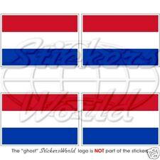 "NETHERLANDS Dutch Flag 5cm/2"" Bumper-Helmet Stickers x4"