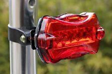 5 de la cola LED Bike Alarma Luz MTB Ciclismo Seguridad Posterior luz de flash